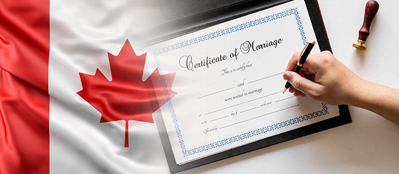 سند ازدواج کانادایی