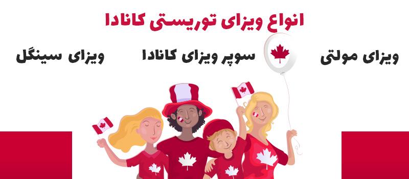 انواع ویزای توریستی کانادا